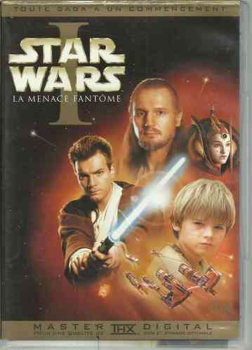 DVD star wars épisode 1 la menace fantome Georges Lucas 2003