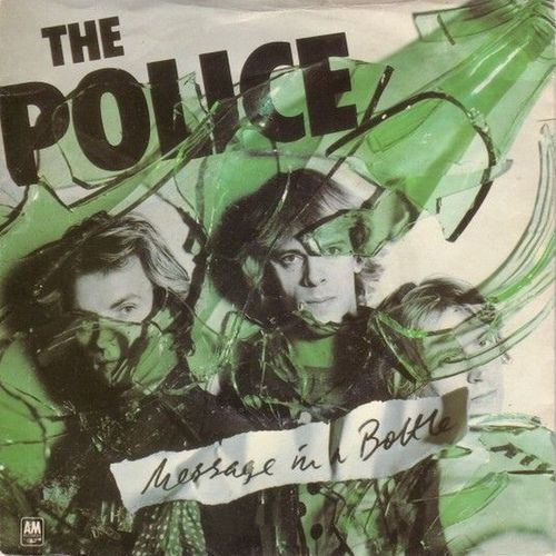 VINYL45T the police message in à bottle 1979