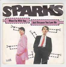 VINYL45T sparks when i'm with you 1980