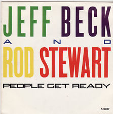 VINYL45T jeff beck rod stewart people get read 1985