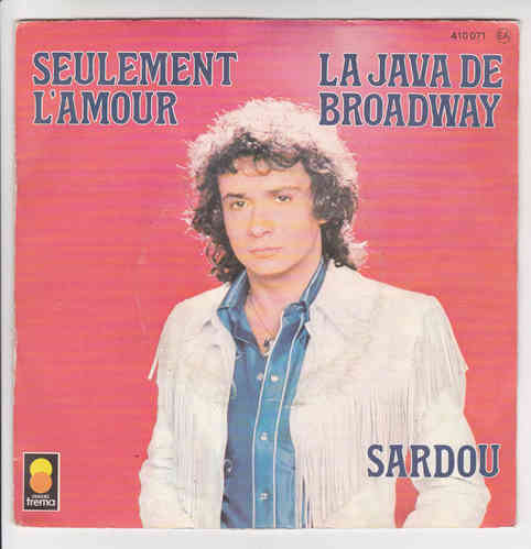 VINYL45T michel sardou la java de broadway1977