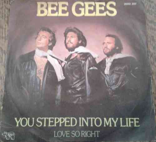 VINYL45T bee gees you stepped into my life 1976