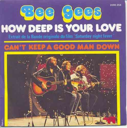 VINYL45T bee gees how deep is your love