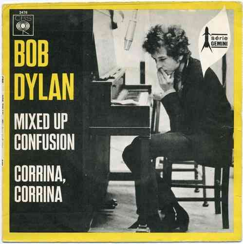 VINYL45T bob dylan mixed up confusion 1962