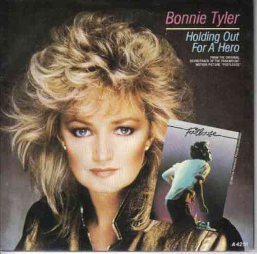 VINYL45T bonnie tyler holding out a hero