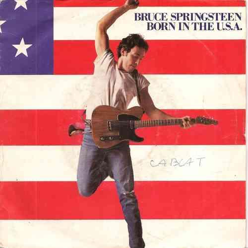 VINYL45T bruce springsteen born in the usa 1984