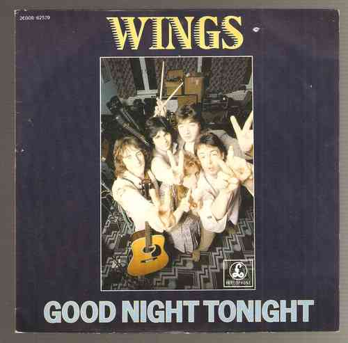 VINYL45T wings good night tonight 1979