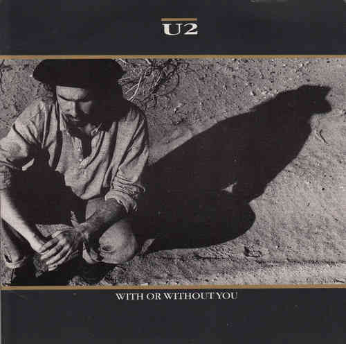 VINYL45T u2  with or without you 1987