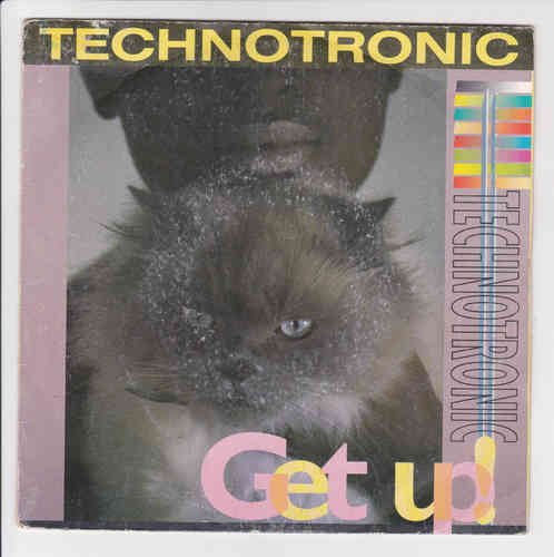 VINYL 45 T technotronic get up 1990
