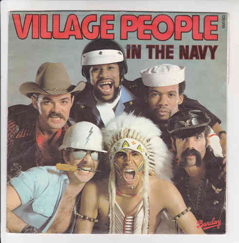 VINYL45T village people in the navy 1979