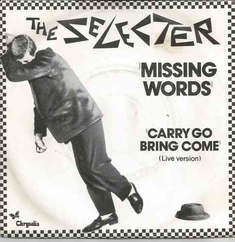 VINYL45T the selecter missing world 1980