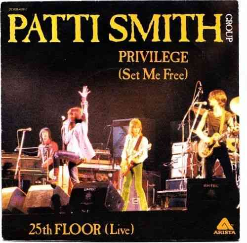 VINYL 45 T patti smith group privilege 1978