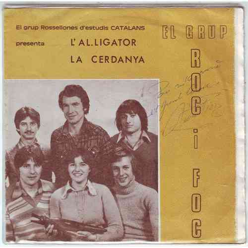 VINYL45T roc i foc l'alligator