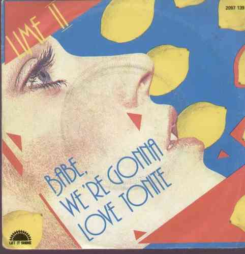 VINYL45T lime babe were gonna love tonit  1982
