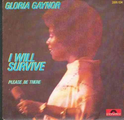 VINYL45T gloria gaynor i will survive 1976