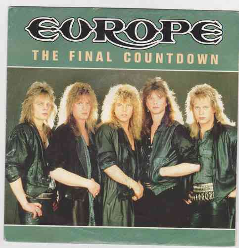 VINYL45T Europe the final countdown 1986