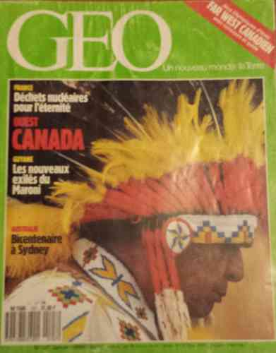 LIVRE Géo far west canadien n°107