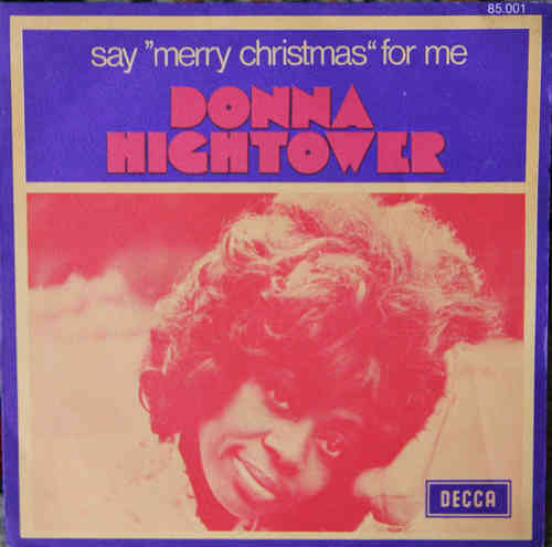 VINYL45T donna hightower say merry christmas for me 1972