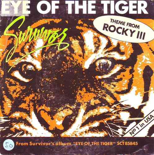 VINYL 45 T survivor eye of the tiger 1982