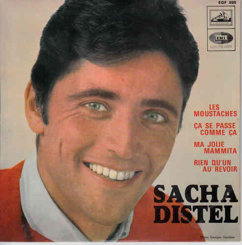 VINYL45T sacha distel les moustaches 1967