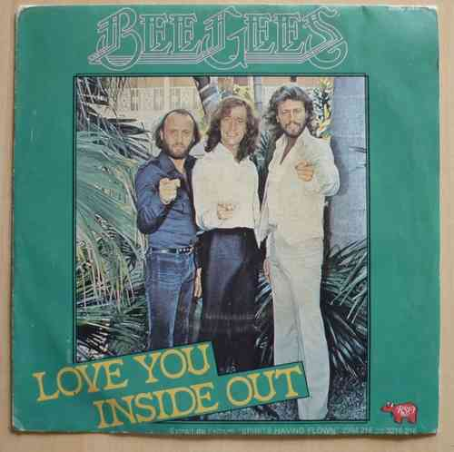 VINYL45T bee gees love you inside out