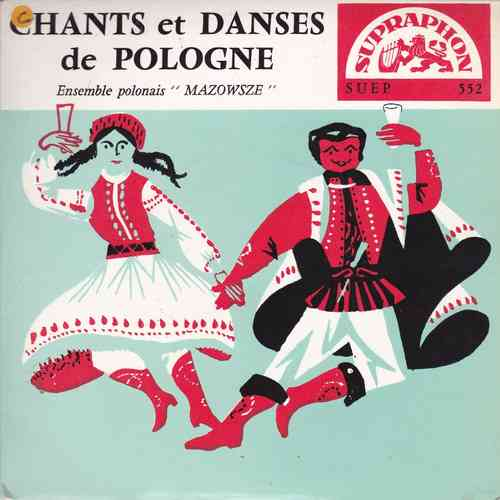 VINYL45T  ensemble mazowsze chants et danses de pologne
