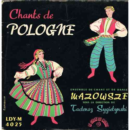 VINYL45T  ensemble mazowsze chants  de pologne