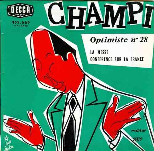 VINYL45T champi optimiste n°28 la messe BIEM