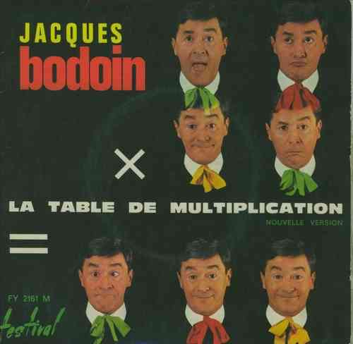 VINYL45T jacques bodoin la table de multiplication 1969 BIEM