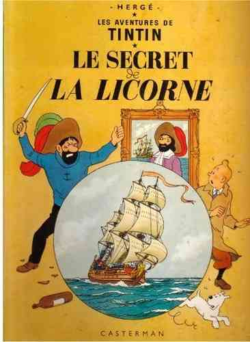 BD tintin le secret de la licorne 1971 collection