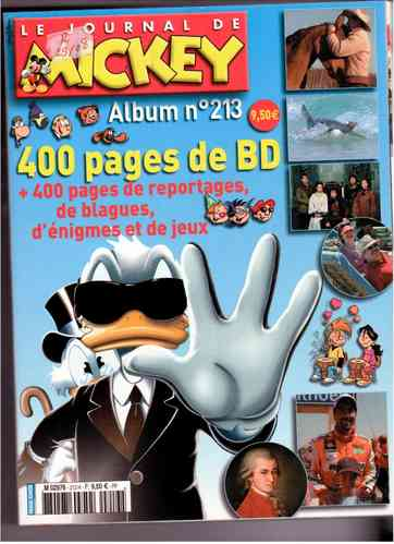 BD Le journal de Mickey album n°213 2006