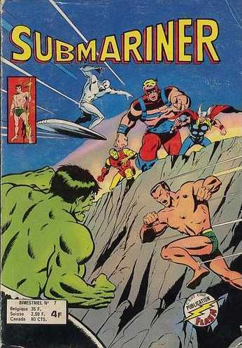 BD submarinier confrontation mensuel n°7 marvel 1978