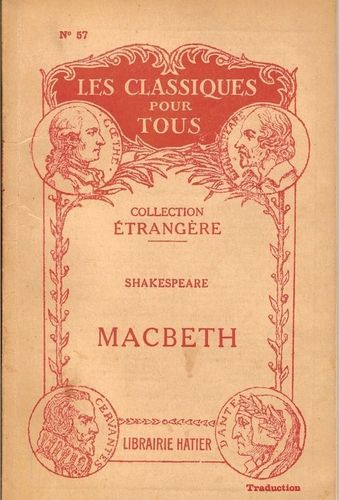 LIVRE Shakespeare macbeth N°57 Hatier