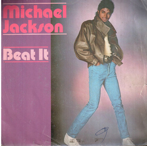 VINYL45T michael jackson beat it 1982