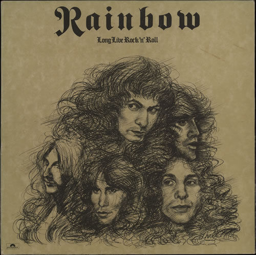 VINYL 33 T rainbow long live rock'n'roll 1978
