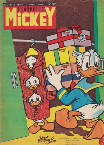 BD le journal de Mickey n°187-1955