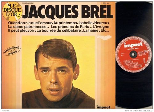 VINYL 33T jacques brel le disque d'or impact 1978