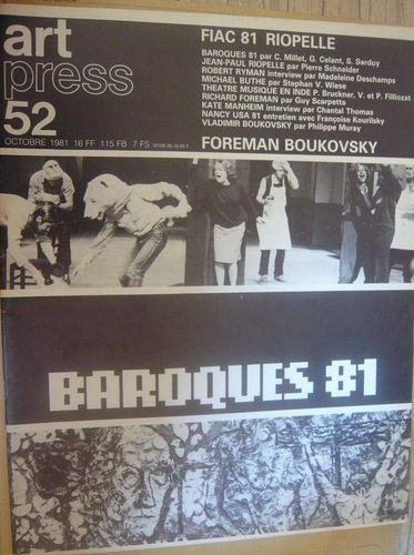 LIVRE revue art press 52 1981