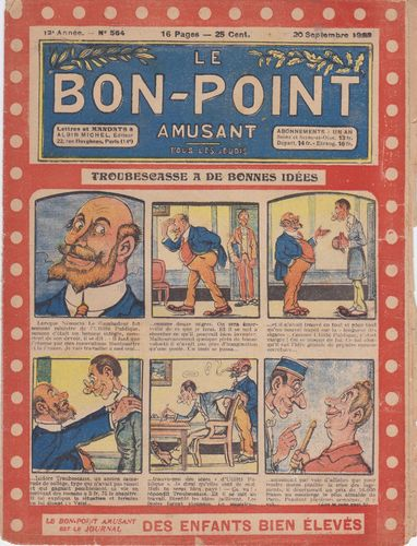 BD hebdomadaire le bon point N° 564 1923