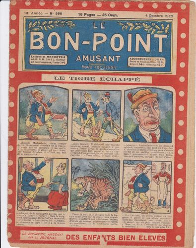BD hebdomadaire le bon point N° 566 1923