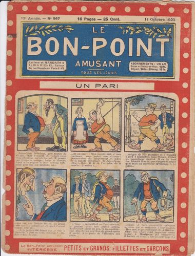 BD hebdomadaire le bon point N° 567 1923