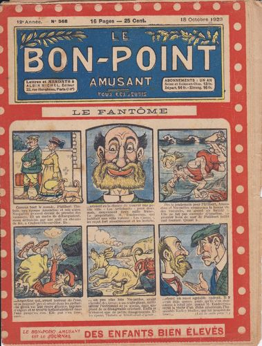 BD hebdomadaire le bon point N° 568 1923