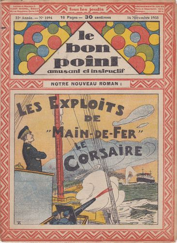 BD hebdomadaire le bon point N° 1102 1934