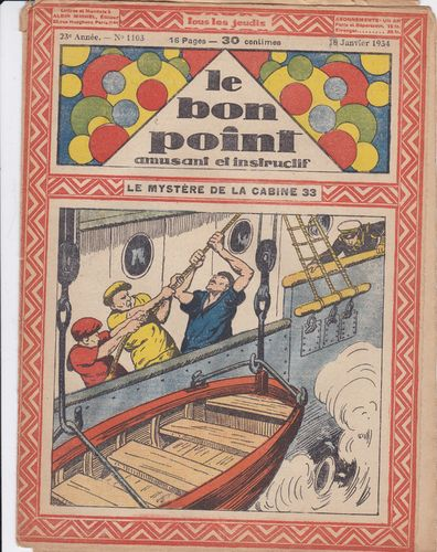 BD hebdomadaire le bon point N° 1103 1934