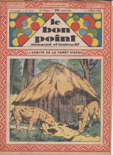 BD hebdomadaire le bon point N° 1110 1934