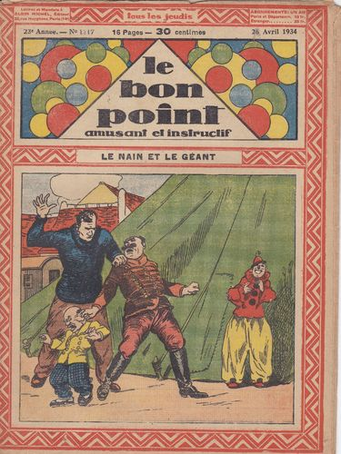 BD hebdomadaire le bon point N° 1117 1934