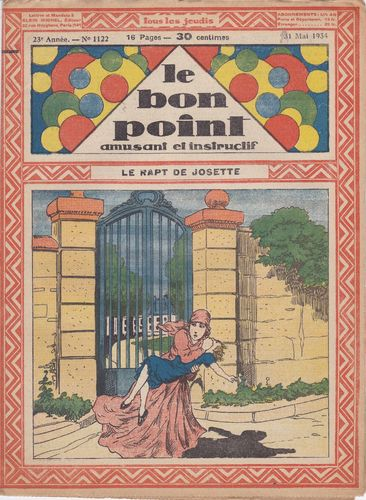 BD hebdomadaire le bon point N° 1122 1934