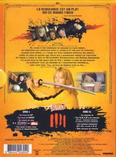 DVD Kill Bill vol 1 uma thurman Quentin Tarantino 2004