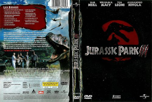 DVD jurassic park III Joe Johnston 2002
