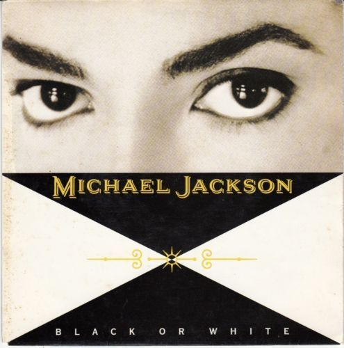 VINYL45T Michael Jackson black or white 1991